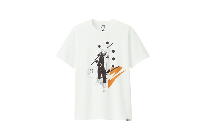 shonen jump uniqlo ut graphic tee shirt collaboration final black naruto print orange white older adult