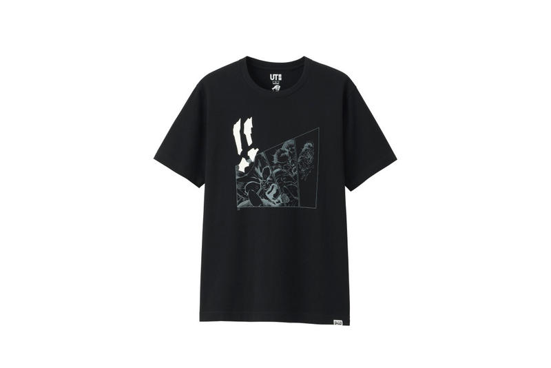 shonen jump uniqlo ut graphic tee shirt collaboration final black white print