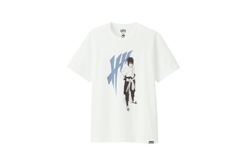shonen jump uniqlo ut graphic tee shirt collaboration final black sasuke naruto blue print white older adult