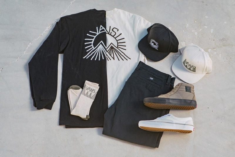 Vans BMX Dakota Roche For The Search Collection sk8 hi era pro torrey jacket t shirt long sleeve chino stretch pant socks suede white olive