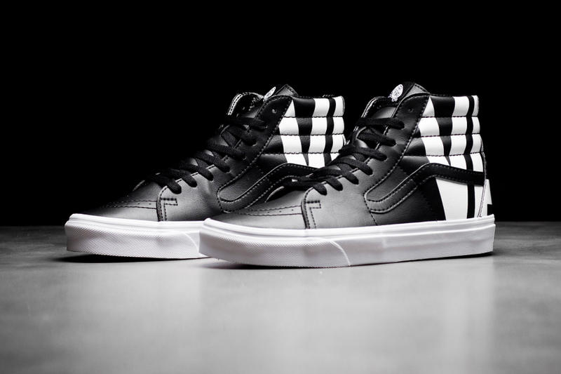 Vans Sk8-Hi With Oversized Logo black white tumbled leather release info  sneakers footwear 92ca2a50b799