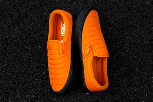 "Vans's Quilted Slip-On Rework Receives a Bright ""Russet Orange"" Colorway"