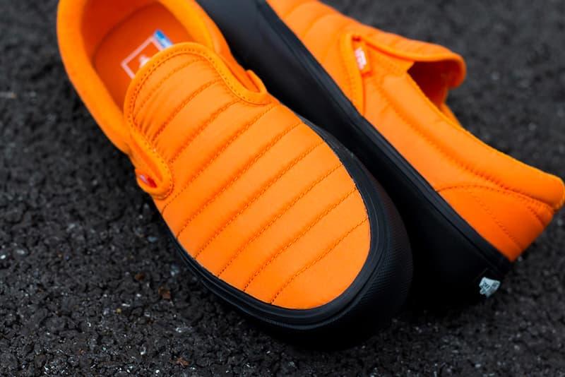 Vans Slip On Lite Quilted Russett Orange Release Ultra Cush Black