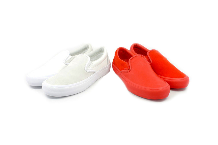 da88d349a142 Vans Vault OG Classic Slip-On LX. Engineered Garments Reissues Mismatched Vans  Vault Collaboration