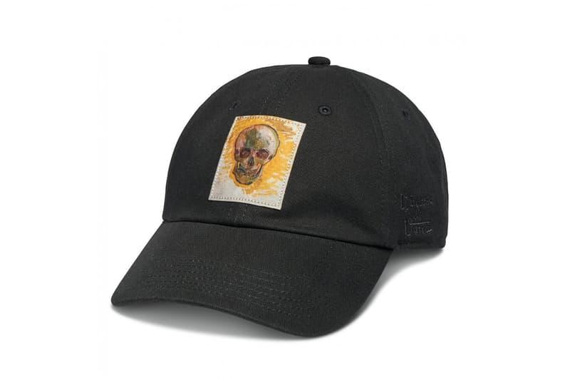 vincent van gogh museum vans collaboration artwork black skull print hat cap painting