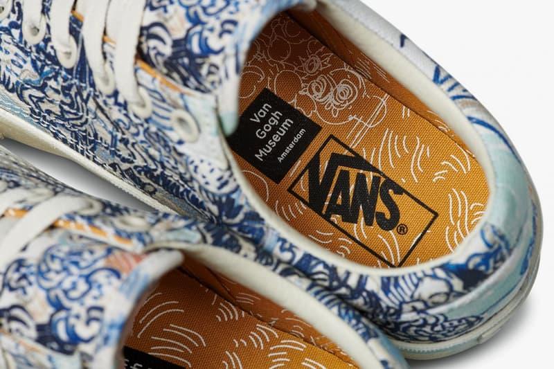 vincent van gogh museum vans collaboration artwork branding insole drawing vineyard white orange black blue