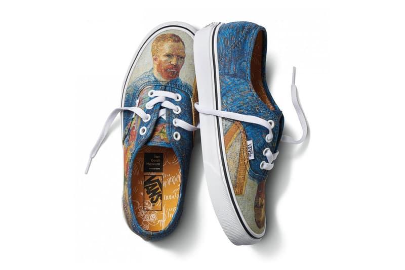 vincent van gogh museum vans collaboration artwork authentic self portait print blue orange sneaker shoe