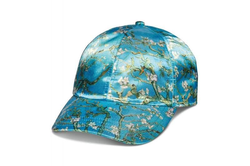 vincent van gogh museum vans collaboration artwork satin cap hat almond flower blue blossom