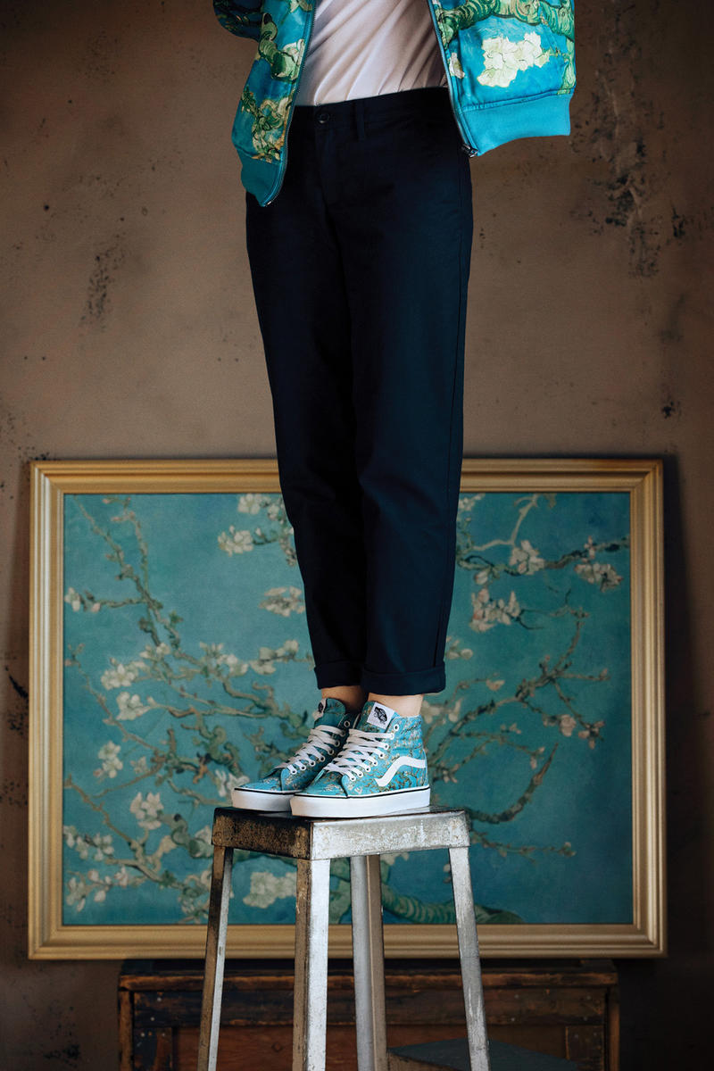 vincent van gogh museum Vans collaboration release date lookbook official drop release date cop buy purchase sale sell skull flower floral bomber long sleeve short tee shirt sneaker old skool slip on sk8 hi authentic self portrait amsterdam august 3 2018