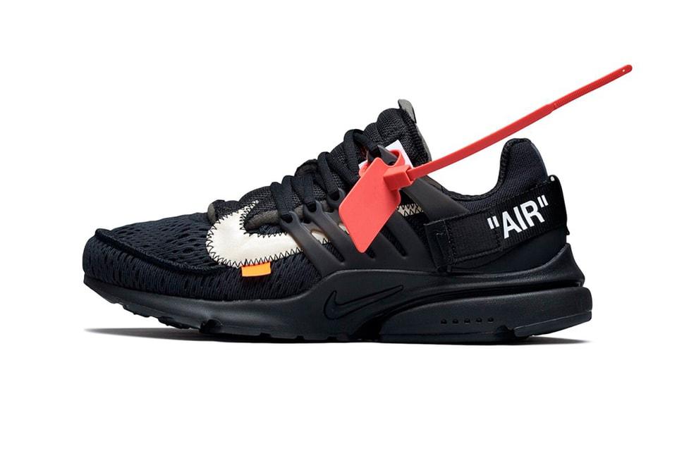 timeless design 58329 80762 Virgil Abloh x Nike Air Presto Black