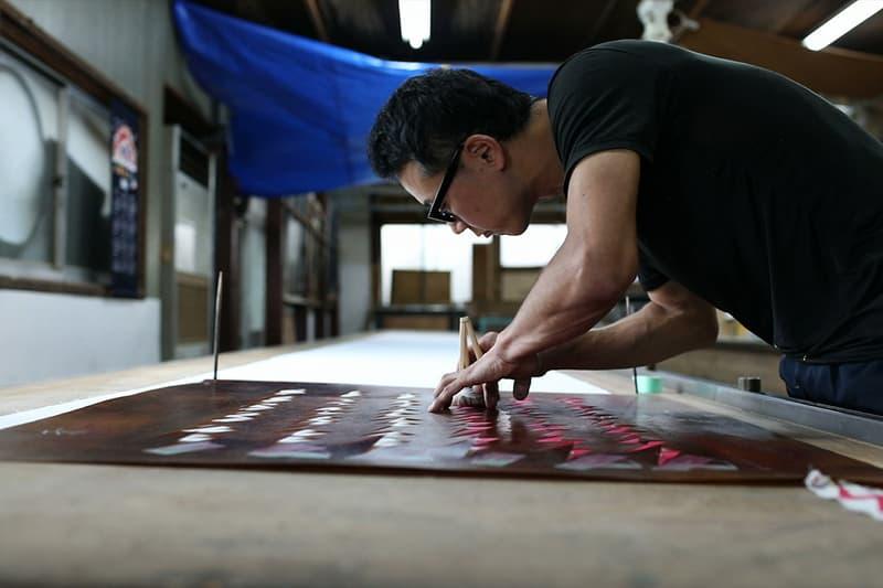 visvim Dissertation Katazurizome dye process video in depth textile print stencil spring summer 2018 collection