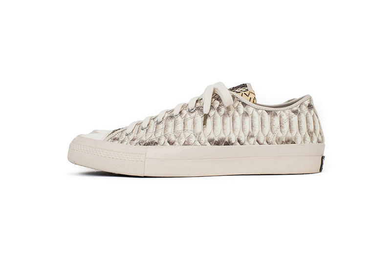 visvim SKAGWAY LO Python Leather release info brown white black off-white sneakers