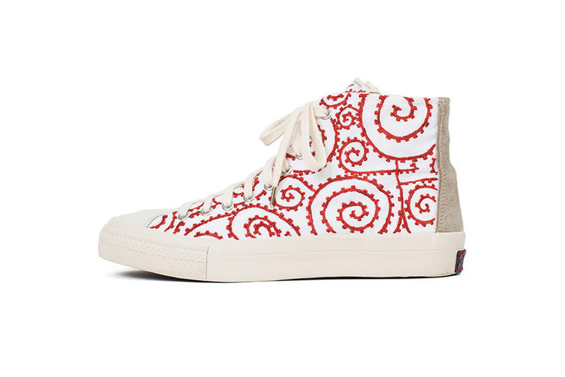 visvim SS18 SKAGWAY HI Foliage Sketch Release White Blue Black Red Hand Painted Canvas Suede Denim