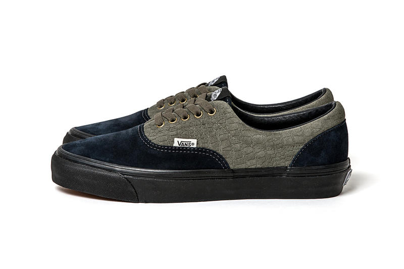WTAPS vans vault collaboration flames crocodile pattern print leather suede canvas navy green black blue old skool sk8 hi era LX japan skate sneaker shoe drop release date buy info purchase leak teaser july 7 21 2018 half cab digital camouflage