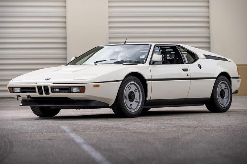 BMW M1 white auction Giorgetto Giugiaro Italdesign vintage heritage vehicles sportscars
