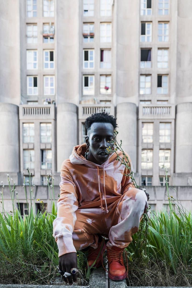 Lookbook 424 ARMES 2018 Collection collaboration red yellow brown orange denim jacket pants hoodie sweatshirt bleached thomas koenig