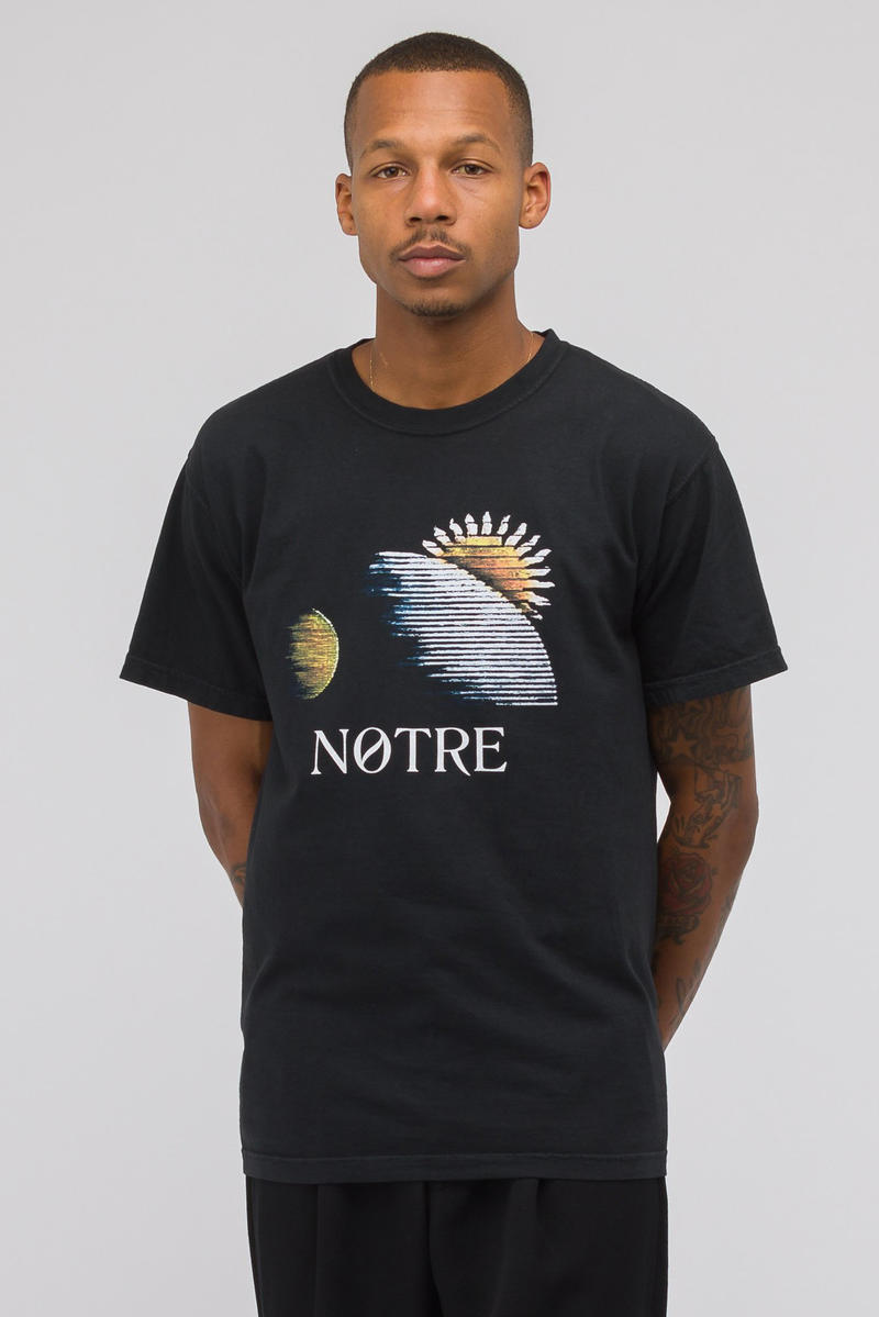 Notre private label tee shirt drop 1 first collection release drop tie dye print embroidery chuck berry