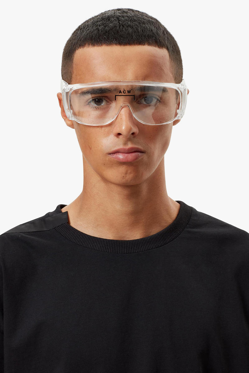 A-COLD-WALL* Protective Equipment Capsule Collection Noise Reduction Earplug Units Heavy Duty Acetate Glasses Clear Lens Dust Resistant Face Mask ACW* Fashion Brand
