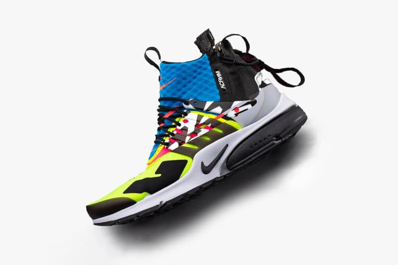 Errolson Hugh Teases ACRONYM Nike Presto Drop video promo clip september 20 2018 release drop collaboration debut purchase shop buy sell pattern mid sneaker footwear acr instagram