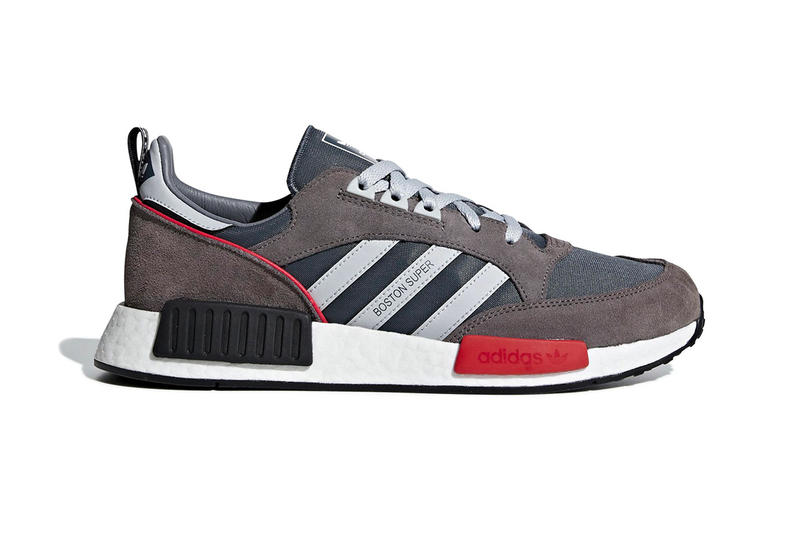 adidas NMD R1 boston super sneakers release info grey red boston r1 first look