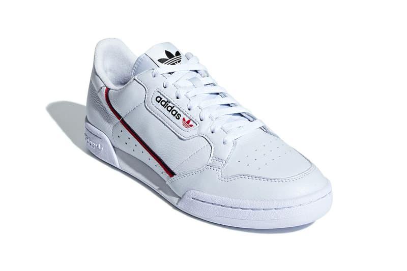 adidas Continental 80 Aero Blue release info sneakers scarlet Collegiate Navy