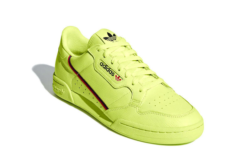 adidas Continental 80 Semi Frozen Yellow Clear Pink Scarlet Collegiate Navy release info sneakers