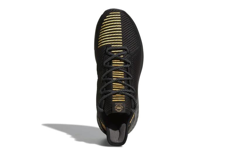 99bbb6d521b adidas D Rose 9 Shoe sneaker drop date Derrick Rose black gold