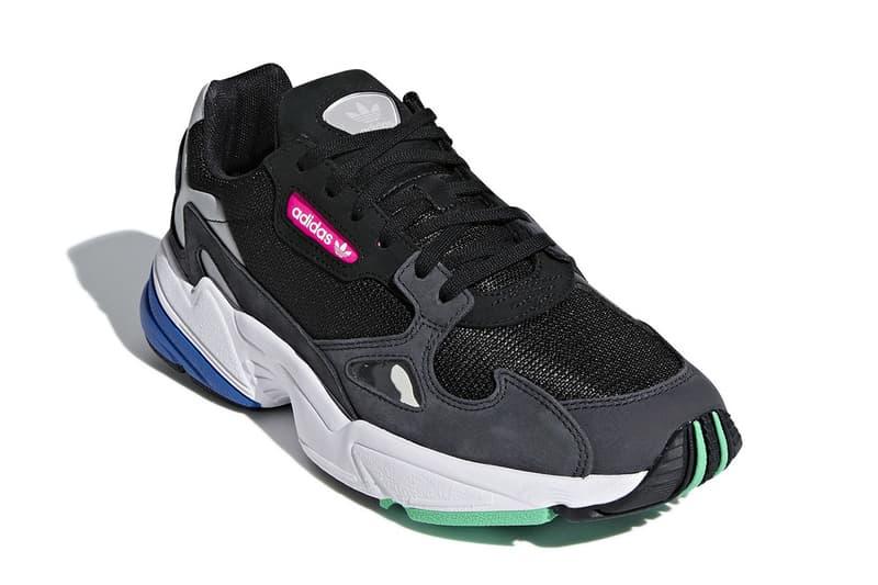 adidas falcom wmns womens sneaker grey black colorways new august 9 2018 drop release date info F35269 blue green pink running retro design trainer footwear