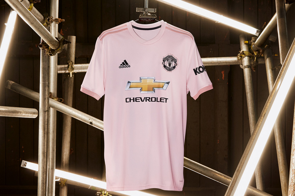 b09228b5 adidas Football Unveils Manchester United's Away Kit for 2018/19 Season.  Pretty in pink.