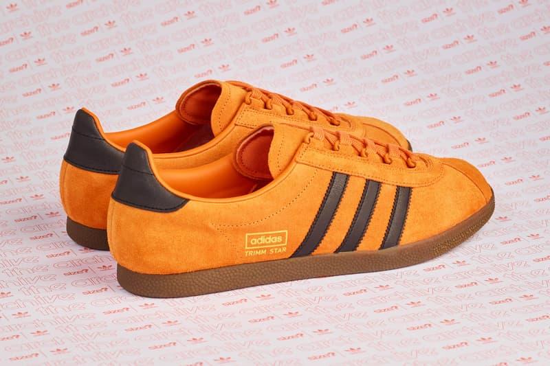 adidas Originals Archive Trimm Star Pumpkin Sneaker Details Size? Official Collaboration Release Cop Purchase Buy Kicks Shoes Trainers Orange Vintage