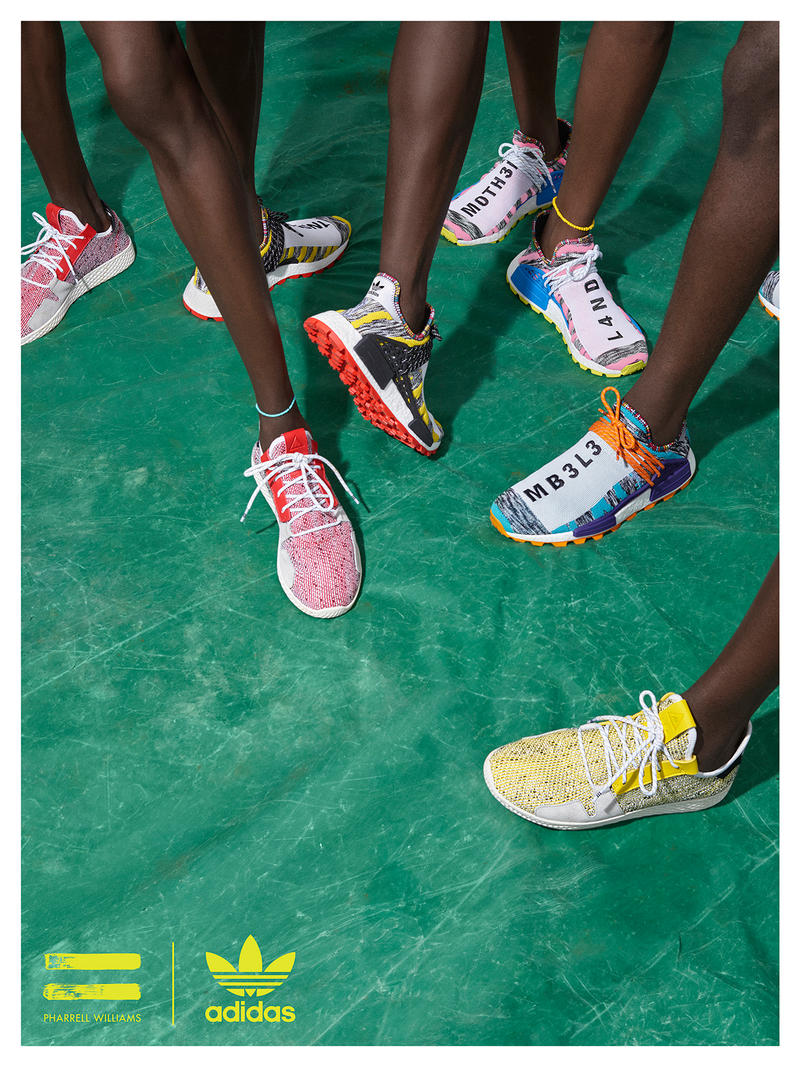 adidas Originals Pharrell Williams SOLARHU Lookbook Trainers Kicks Shoes Footwear Sneakers Cop Purchase Buy Available Soon Lookbooks Collections NMD Tennis Hu Apparel Jacket Release Date