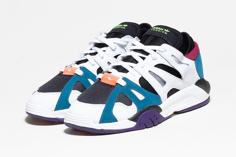 adidas Originals Torsion Dimension Low Re Release Cloud White Core Black Real Teal