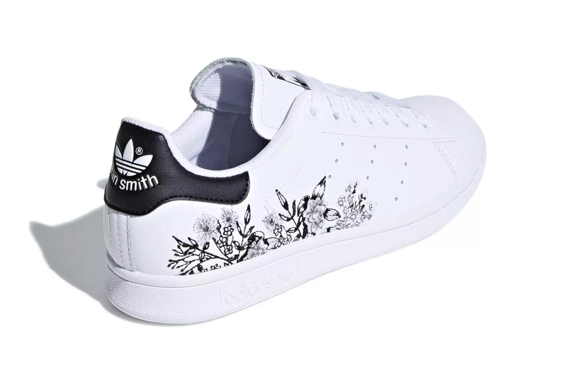 adidas Stan Smith floral flower embroidery white black orange yellow pink red release info