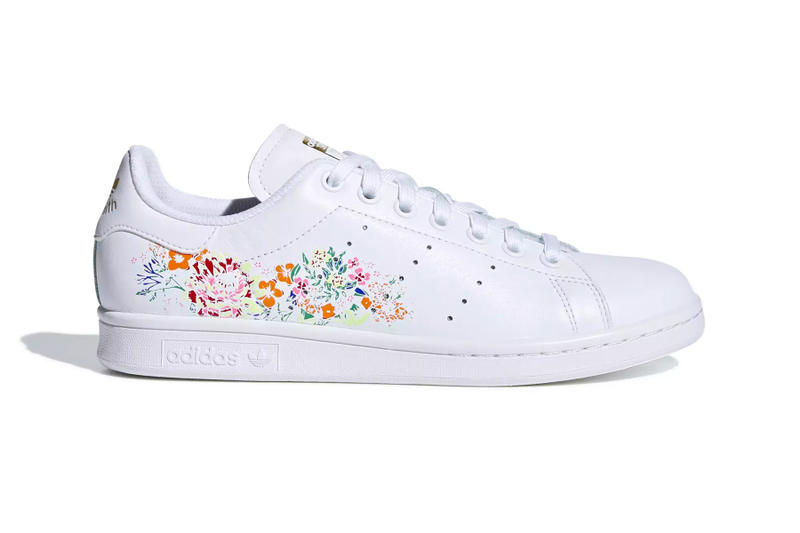 adidas Stan Smith floral flower embroidery white black orange yellow pink  red release info 3cb1c69da