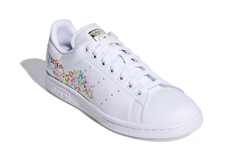 newest be856 cce36 adidas Stan Smith floral flower embroidery white black orange yellow pink  red release info