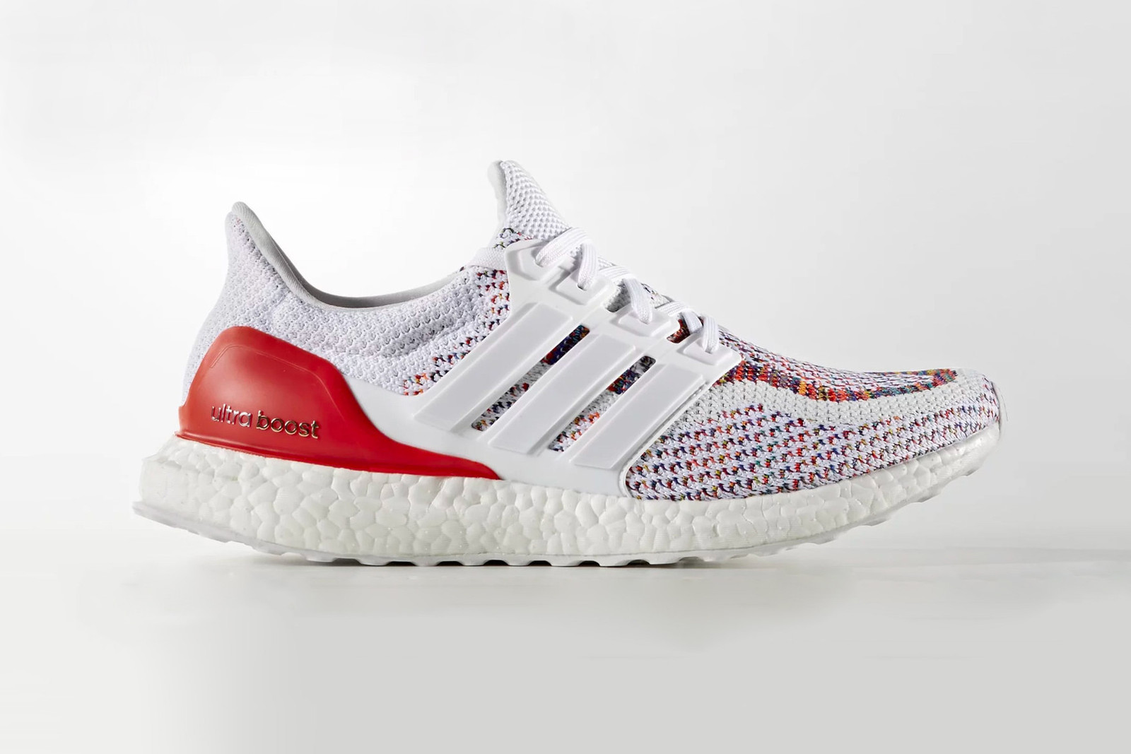 adidas Ultraboost Multicolor Rerelease Info sneakers running german footwear colorful white three stripes foot locker flat white red