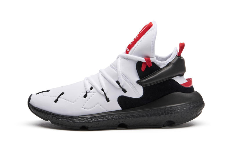 Y-3 Drops Kusari II Model Fall/Winter 2018 silhouette sneaker shoe boost white black red colorway three 400 usd dollars august 24 2018 drop release date info buy purchase sale