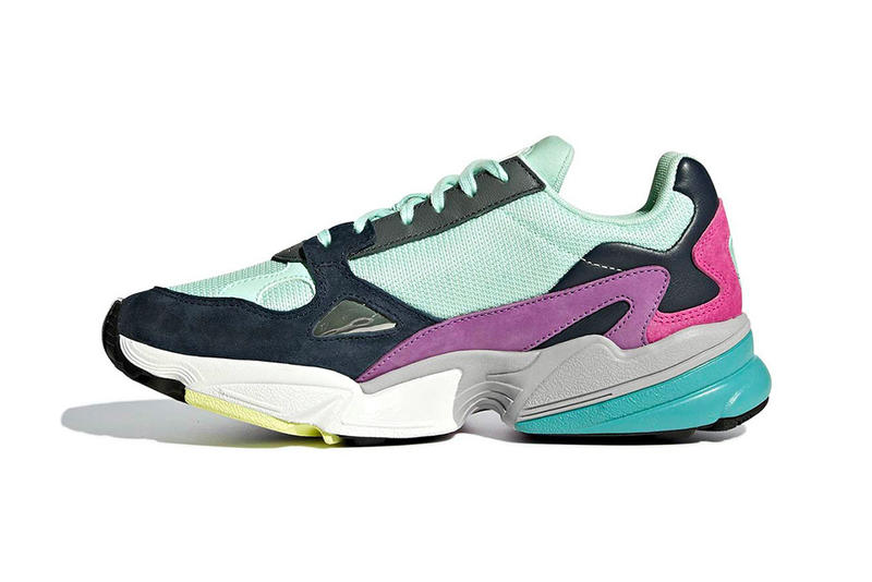 adidas Falcon Multicolor Teal navy purple Colorway sneaker suede release date info price