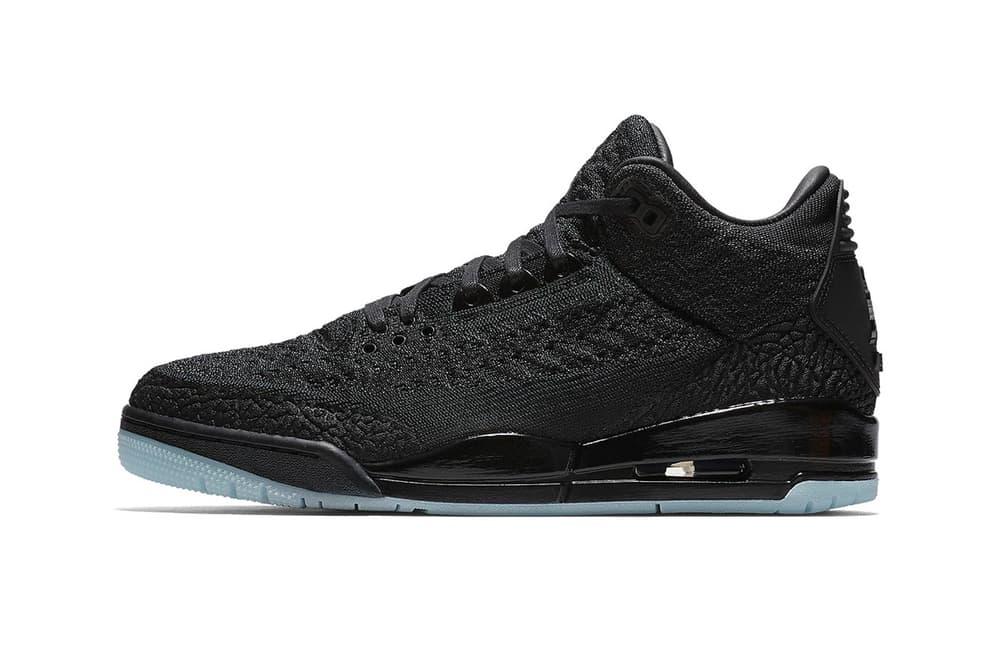 Air Jordan 3 Flyknit Official Release Date Nike SNKRS Drop Info Black Cat