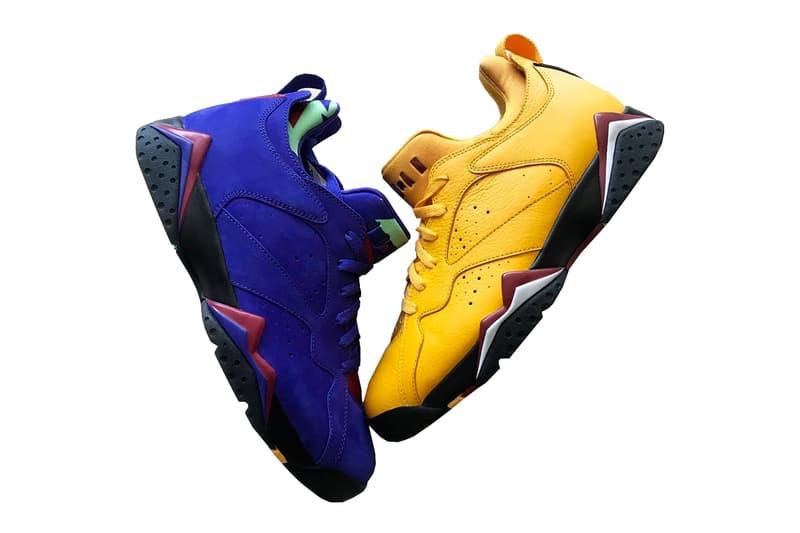 8cc3ef338f717d air jordan 7 low nrg 2018 jordan brand michael jordan black gold purple  sneaker release concord