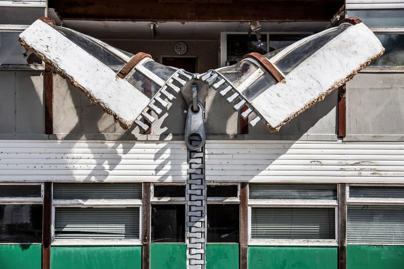 alex chinneck zipper installation open to the public sculpture artworks