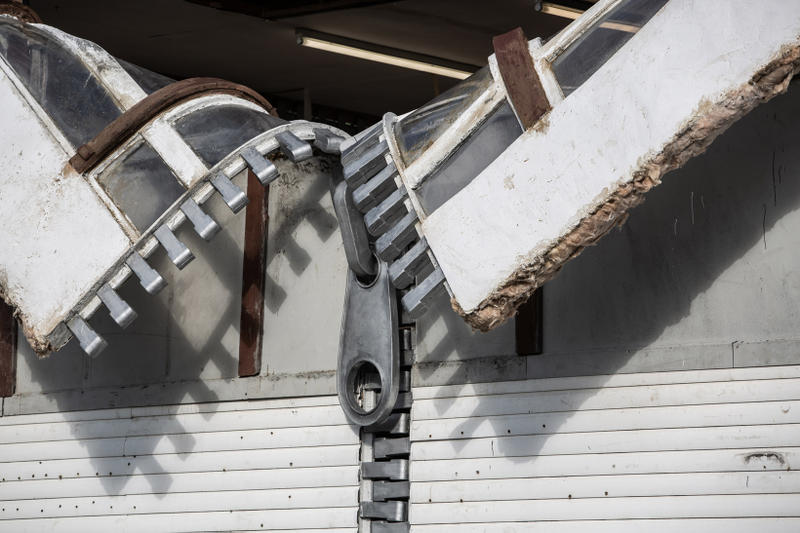 alex chinneck zipper installation open to the public sculpture artworks