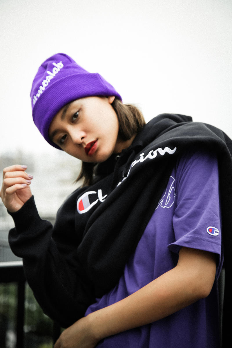 atmos LAB Champion Fall Winter 2018 Collab august 11 2018 drop release lookbook drop release date info hoodie tee shirt hat beanine