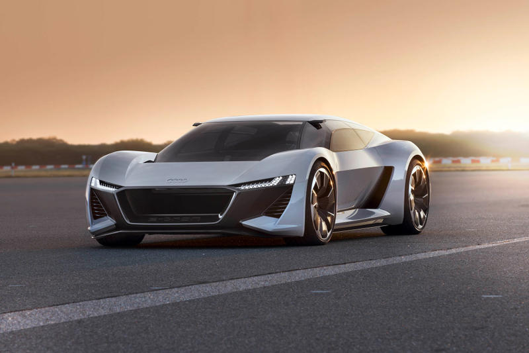 Audi's PB18 E-Tron Electric Supercar Features a Center-Positioned Seat