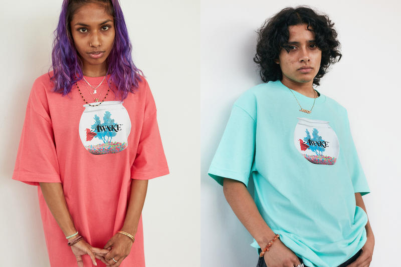Awake NY mid spring Summer 2018 T-Shirts Lookbook Coral Ether NAS Goldfish collection graphic angelo baque