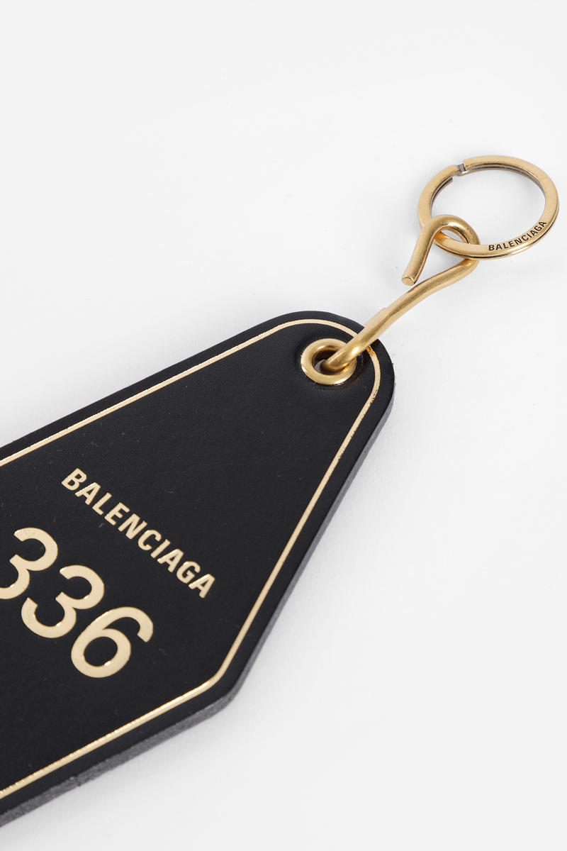 Balenciaga Fall Winter 2018 collection Hotel Key Tag accessories