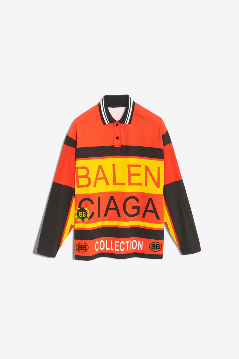 balenciaga all over logo polo fashion 2018