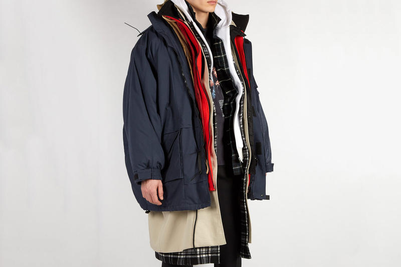 Balenciaga Oversized Layered Parka Coat seven fall winter 2018 ski influence inspiration demna gvasalia