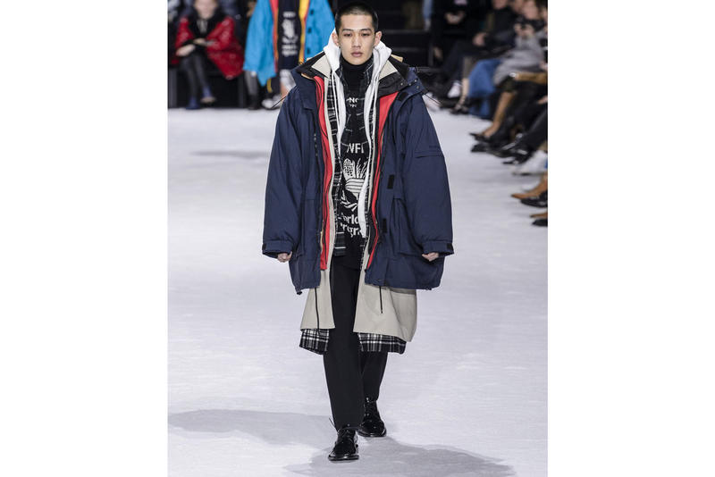 Balenciaga Oversized Layered Parka Coat seven fall winter 2018 ski influence inspiration demna gvasalia