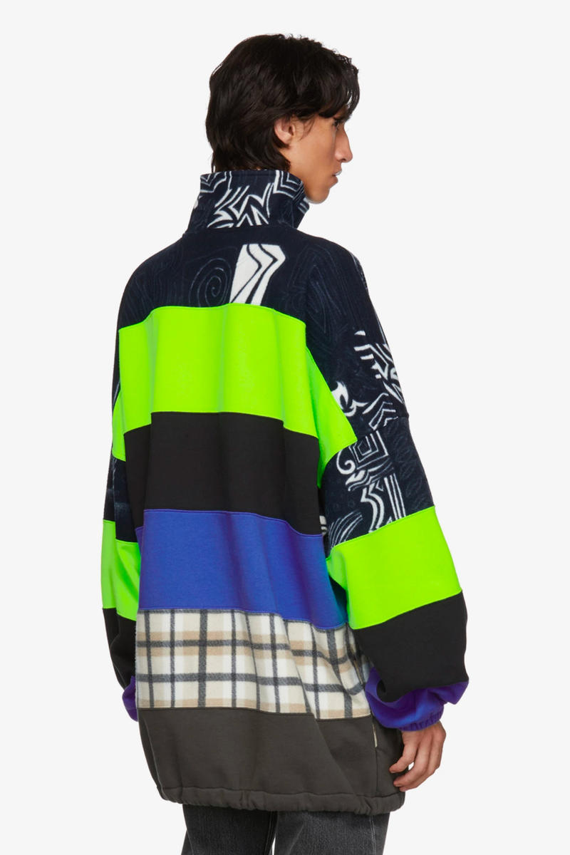 Balenciaga Pre-Fall 2018 Collection Chimney Sweaters multicolor check leaopard tartan demna gvasalia